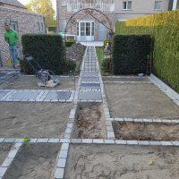terras aanleggen, tegelwerken, kinkerwerken